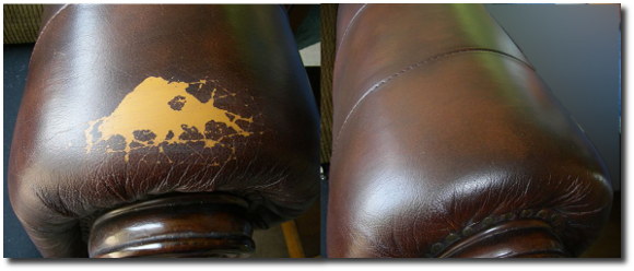 Cracked Leather Chair Arm