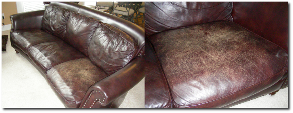 Discolored Leather