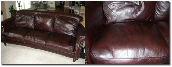 Restored Leather Color