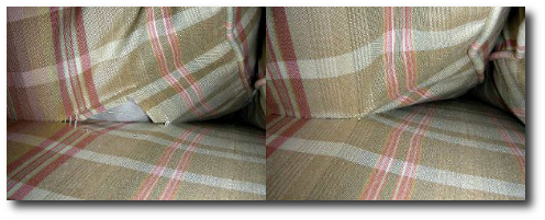 Sewn upholstery