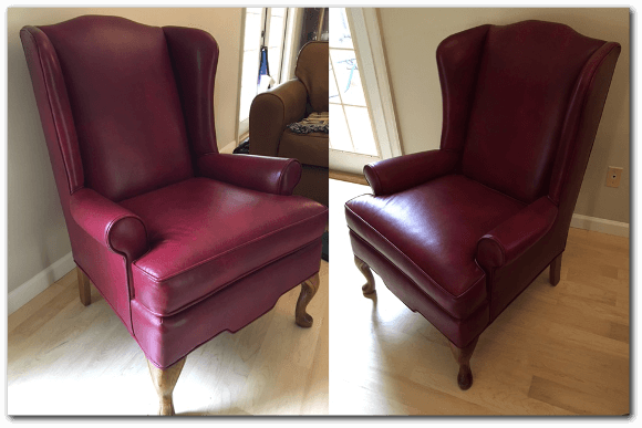 fabric to leather Re-Upholstry